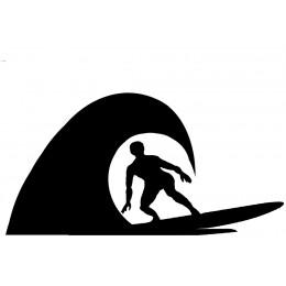 Surfer Weather Vane